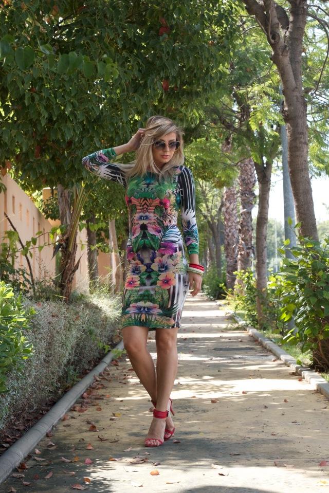 floral print dress topshop