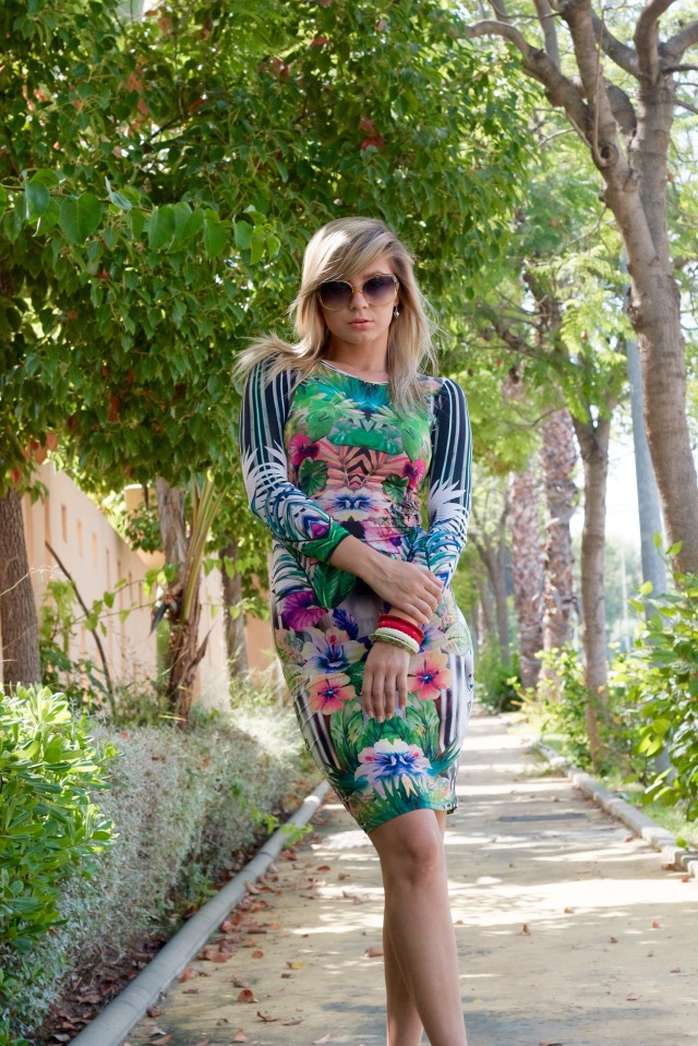 botanical dress topshop