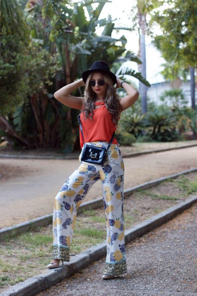 dressin orange top mbcos blog de moda malaga fashion