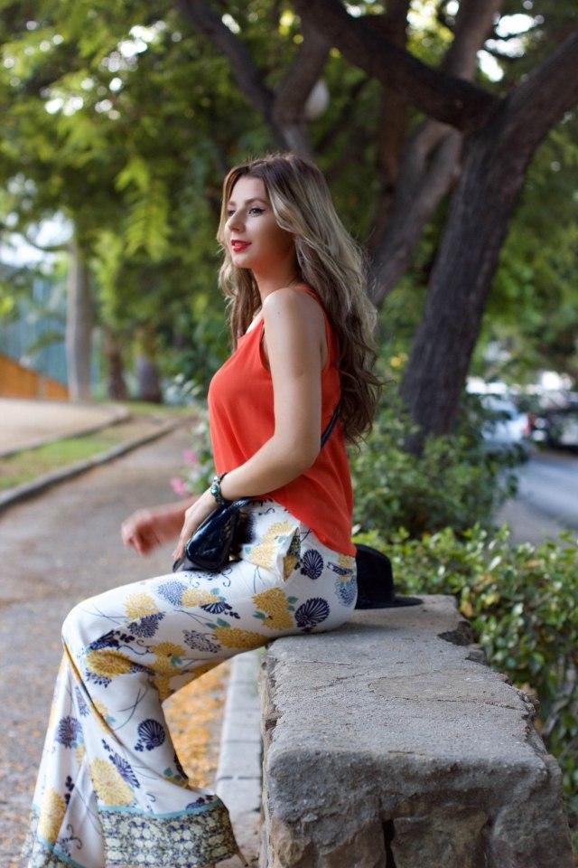 blog de moda mbcos malaga fashion street orange dressin blouse