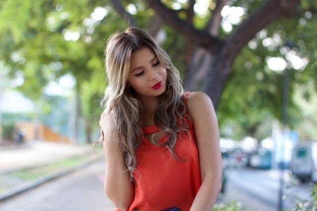 dressin orange blouse mbcos blog de moda malaga fashion blogger