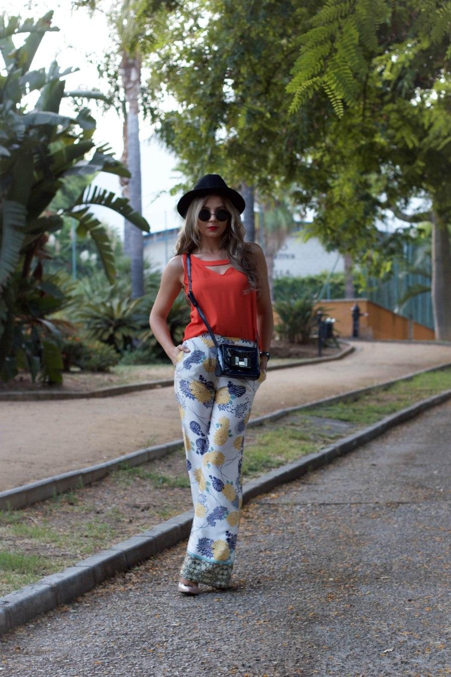 palazzo pants mbcos blog de moda orange dressin top fashion spain