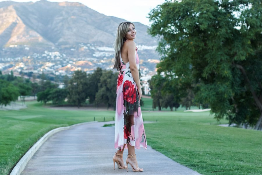 resegal floral dress Mbcos streetstyle look bohemiandress malagafashionblogger