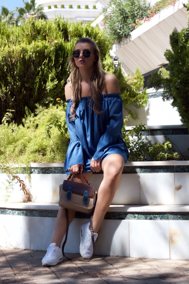 dressin clothing how to wear off-shoulder dress nike air max white mbcos blog de moda