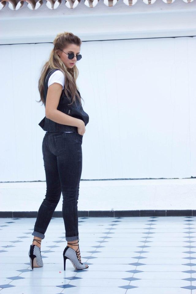 black and white fall look mbcos blog de moda malaga fashion blogger