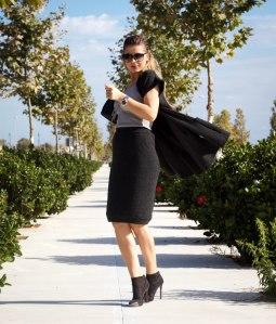 chaleco lana de invierno look falda de lana mbcos blog de moda fashion blogger malaga