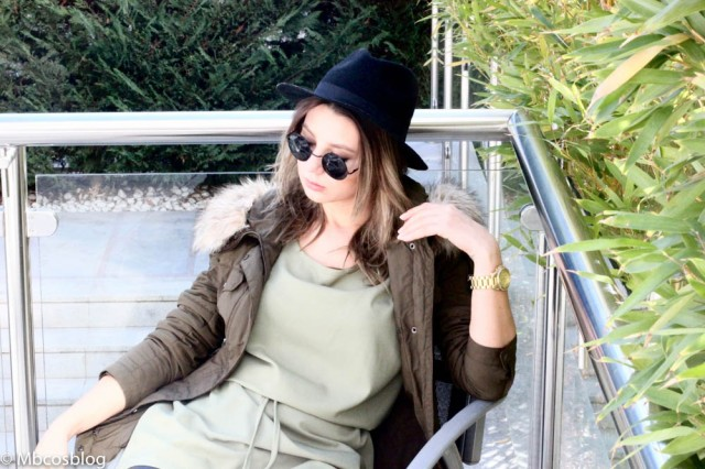 casual look fedora green dress mbcos blog de moda fashion blogger