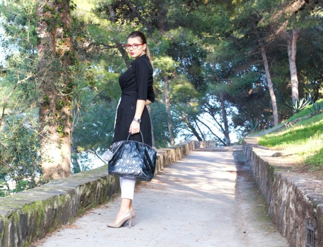 grey shoes black and white look mbcos blog de moda malaga fashion blogger